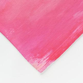 Cobertor De Velo Cobertura do velo da tintura do laço rosa vermelha