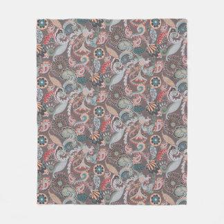 Cobertor De Velo Cobertura do velo de Boho Paisley