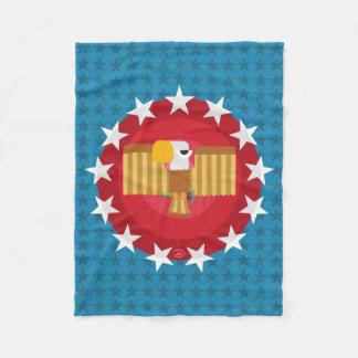 Cobertor De Velo Cobertura do velo de Eagle da liberdade (azul) -