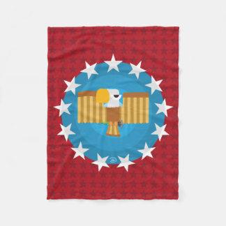 Cobertor De Velo Cobertura do velo de Eagle da liberdade (vermelho)