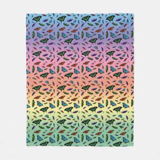 Cobertor De Velo Cobertura do velo de Flutterbies (arco-íris)