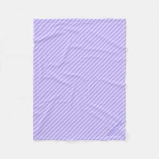 Cobertor De Velo Cobertura do velo de HAMbWG - listra do Lilac