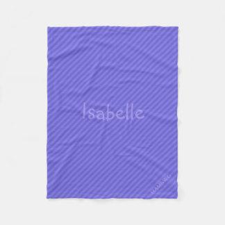 Cobertor De Velo Cobertura do velo de HAMbWG - listra roxa