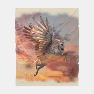 Cobertor De Velo Cobertura do velo de Pegasus do por do sol, MED,