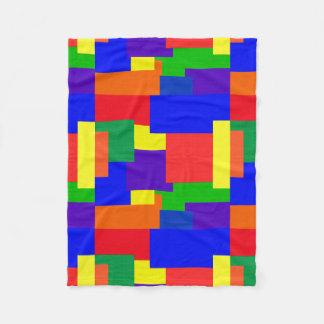 Cobertor De Velo Cobertura do velo do abstrato da textura das cores