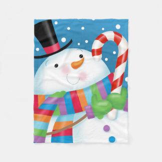 Cobertor De Velo Cobertura do velo do boneco de neve
