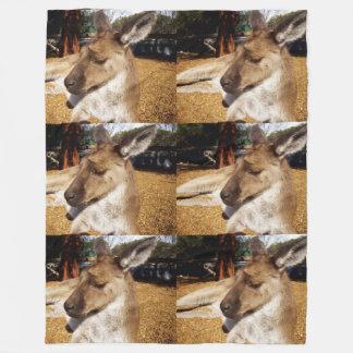 Cobertor De Velo Cobertura do velo do canguru sonolento de Brown