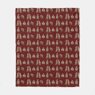 Cobertor De Velo Cobertura do velo do cão de pradaria (Borgonha)