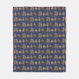 Cobertor De Velo Cobertura do velo do cão de pradaria (marinho)