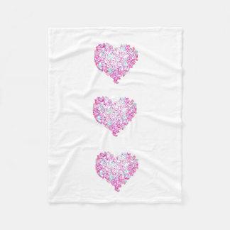 Cobertor De Velo Cobertura do velo do coração e da pomba
