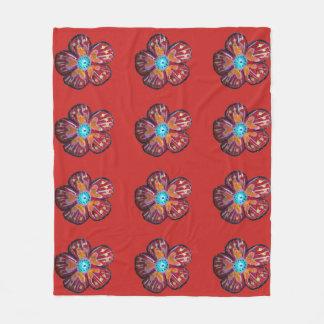 Cobertor De Velo Cobertura do velo do desenho da flor do primavera,