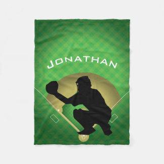 Cobertor De Velo Cobertura do velo do design do coletor do basebol