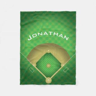 Cobertor De Velo Cobertura do velo do design do diamante de basebol