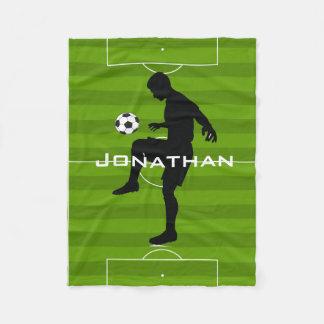 Cobertor De Velo Cobertura do velo do design do futebol