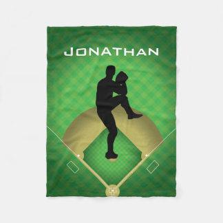 Cobertor De Velo Cobertura do velo do design do jarro do basebol