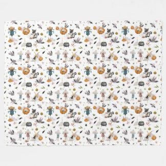 Cobertor De Velo Cobertura do velo do Dia das Bruxas de um animal