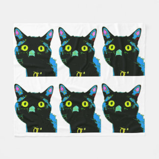Cobertor De Velo Cobertura do velo do gato preto