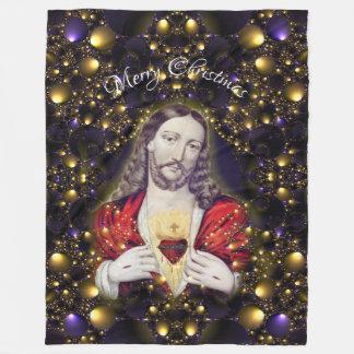 Cobertor De Velo Cobertura do velo do Jesus Cristo do Feliz Natal