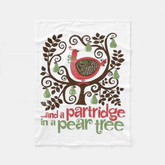 Cobertor De Velo Cobertura do velo do Natal da árvore de pera