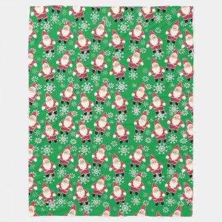 Cobertor De Velo Cobertura do velo do Natal do gnomo do vintage do