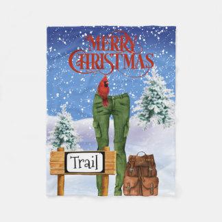 Cobertor De Velo Cobertura do velo do Natal dos caminhantes
