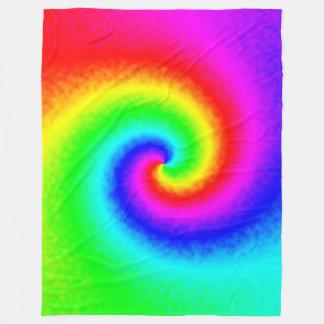 Cobertor De Velo Cobertura do velo do redemoinho do arco-íris da