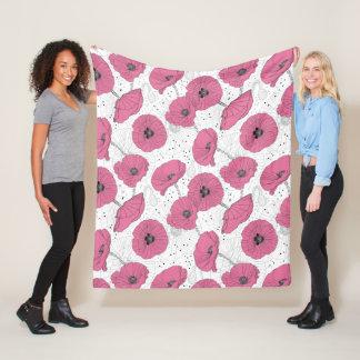Cobertor De Velo Cobertura do velo do teste padrão de flor da