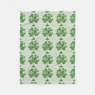 Cobertor De Velo Cobertura do velo do trevo da folha do irlandês