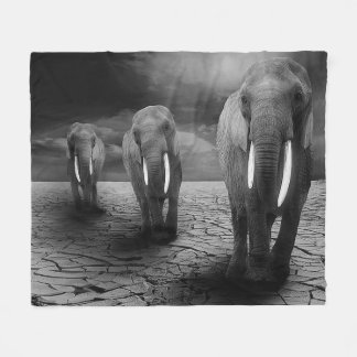 Cobertor De Velo Cobertura do velo do trio do elefante
