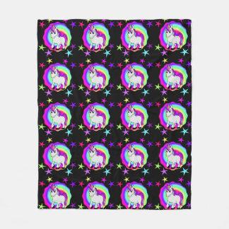 Cobertor De Velo Cobertura do velo do unicórnio do arco-íris