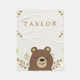 Cobertor De Velo Cobertura do velo do urso da floresta