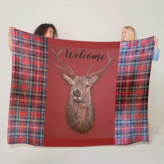 Cobertor De Velo Cobertura do velo do veado do veado vermelho das