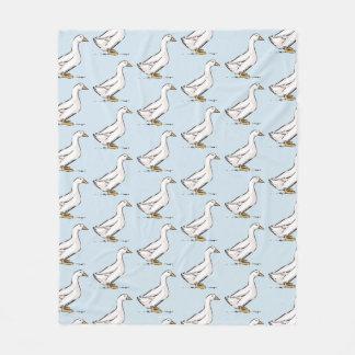 Cobertor De Velo Cobertura do velo dos azuis bebés do teste padrão