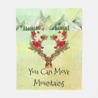 Cobertor De Velo Cobertura do velo dos caminhantes com montanhas e