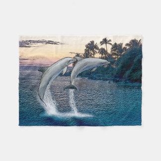 Cobertor De Velo Cobertura do velo dos golfinhos de Florida
