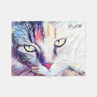 Cobertor De Velo Cobertura do velo dos olhos de gato com suas
