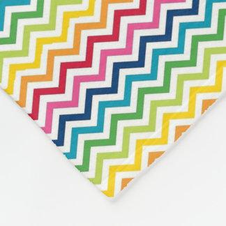 Cobertor De Velo Cobertura do velo - multi ziguezague colorido 3
