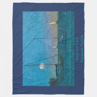 Cobertor De Velo Cobertura do velo - por do sol e veleiros da baía