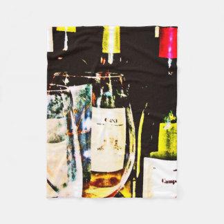Cobertor De Velo Cobertura do velo - vidros vinho da coleção do