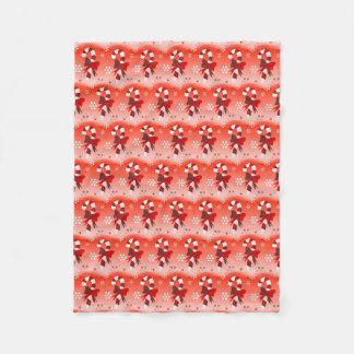 Cobertor De Velo Cobertura doce do velo do Natal dos bastões de