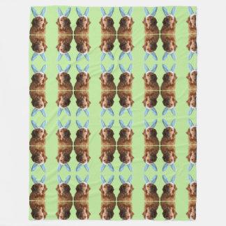 Cobertor De Velo Cobertura dourada bonito do coelhinho da Páscoa