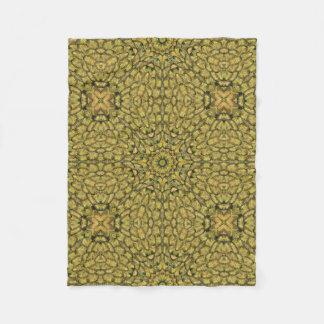 Cobertor De Velo Cobertura dourada do velo da pena