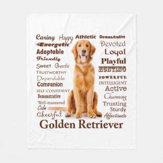 Cobertor De Velo Cobertura dourada do velo dos traços