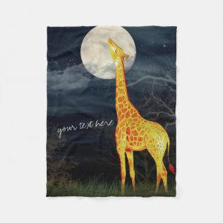 Cobertor De Velo Cobertura feita sob encomenda do velo do girafa e