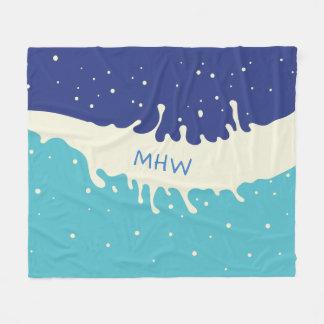 Cobertor De Velo Cobertura feita sob encomenda do velo do monograma