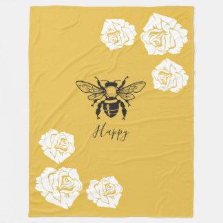 Cobertor De Velo Cobertura feliz do velo da abelha