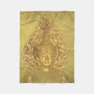 Cobertor De Velo cobertura fleese dourada de buddha