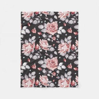Cobertor De Velo Cobertura floral cor-de-rosa do velo do teste