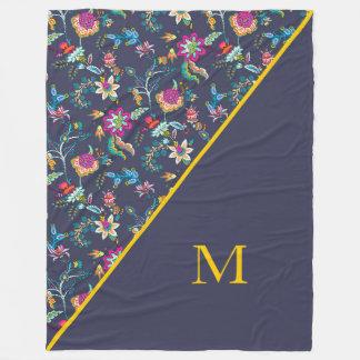 Cobertor De Velo Cobertura floral cor-de-rosa e amarela dos azuis