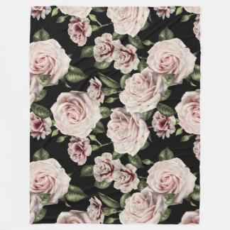 Cobertor De Velo Cobertura floral do velo dos rosas